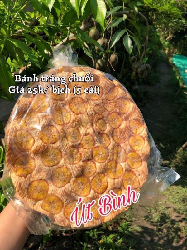 Bánh tráng chuối nướng Tây Ninh
